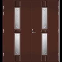Pihla Pariulko-ovi UO 165 Tummanruskea RR32