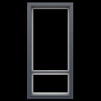 Ranskalaisen parvekkeen ovi Tummanharmaa RR23