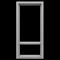 Ranskalaisen parvekkeen ovi Vaaleanharmaa NCS S 2500-N