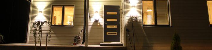 Pihla ulko-ovet banneri tummanharmaa ulko-ovi