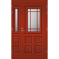 Pihla Ulko-ovi UO 110 lasilevikkeellä Tuvanpunainen NCS S 4050-Y90R