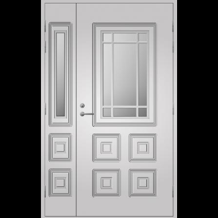 Pihla Ulko-ovi UO 110 lasilevikkeellä Valkoinen NCS S 0502-Y