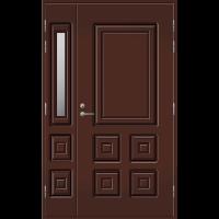 Pihla Ulko-ovi UO 111 lasilevikkeellä Tummanruskea RR32