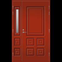 Pihla Ulko-ovi UO 111 lasilevikkeellä Tuvanpunainen NCS S 4050-Y90R