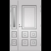Pihla Ulko-ovi UO 111 lasilevikkeellä Valkoinen NCS S 0502-Y