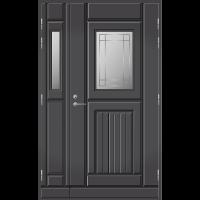 Pihla Ulko-ovi UO118 lasilevikkeellä Tummanharmaa RR23