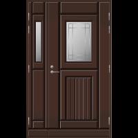 Pihla Ulko-ovi UO118 lasilevikkeellä Tummanruskea RR32