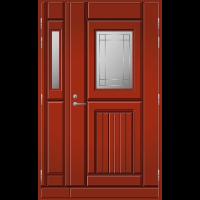 Pihla Ulko-ovi UO118 lasilevikkeellä Tuvanpunainen NCS S 4050-Y90R
