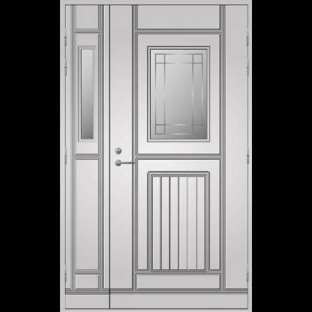 Pihla Ulko-ovi UO118 lasilevikkeellä Valkoinen NCS S 0502-Y