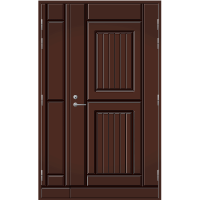 Pihla Ulko-ovi UO119 umpilevikkeellä Tummanruskea RR32