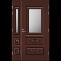 Pihla Ulko-ovi UO 120 lasilevikkeellä Tummanruskea RR32