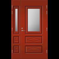Pihla Ulko-ovi UO 120 lasilevikkeellä Tuvanpunainen NCS S 4050-Y90R