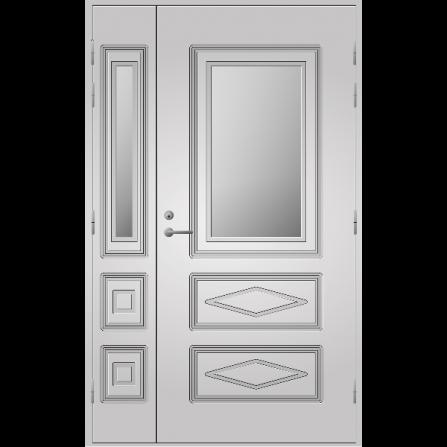Pihla Ulko-ovi UO 120 lasilevikkeellä Valkoinen NCS S 0502-Y