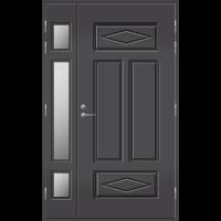 Pihla Ulko-ovi UO 122 lasilevikkeellä Tummanharmaa RR23