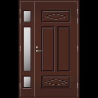 Pihla Ulko-ovi UO 122 lasilevikkeellä Tummanruskea RR32