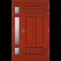 Pihla Ulko-ovi UO 122 lasilevikkeellä Tuvanpunainen NCS S 4050-Y90R