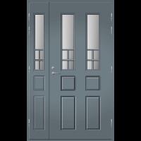 Pihla Ulko-ovi UO 125 lasilevikkeellä Harmaa RR22