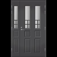 Pihla Ulko-ovi UO 125 lasilevikkeellä Tummanharmaa RR23