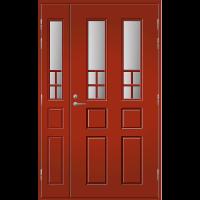 Pihla Ulko-ovi UO 125 lasilevikkeellä Tuvanpunainen NCS S 4050-Y90R
