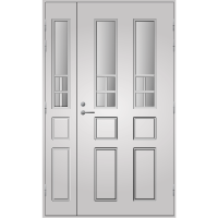 Pihla Ulko-ovi UO 125 lasilevikkeellä Valkoinen NCS S 0502-Y