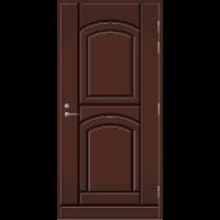 Pihla Ulko-ovi UO 135 Tummanruskea RR32