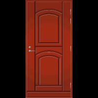 Pihla Ulko-ovi UO 135 Tuvanpunainen NCS S 4050-Y90R