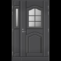 Pihla Ulko-ovi UO 140 lasilevikkeellä Tummanharmaa RR23