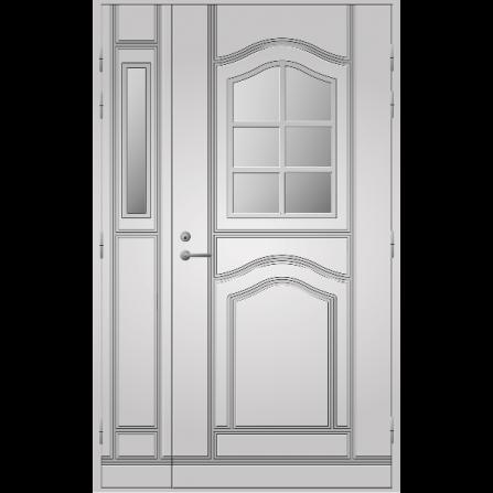 Pihla Ulko-ovi UO 140 lasilevikkeellä Valkoinen NCS S 0502-Y