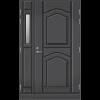 Pihla Ulko-ovi UO 141 lasilevikkeellä Tummanharmaa RR23