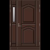 Pihla Ulko-ovi UO 141 lasilevikkeellä Tummanruskea RR32