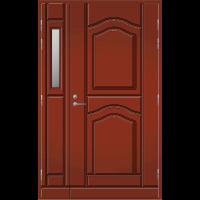 Pihla Ulko-ovi UO 141 lasilevikkeellä Tuvanpunainen NCS S 4050-Y90R