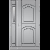 Pihla Ulko-ovi UO 141 lasilevikkeellä Vaaleanharmaa NCS S 2500-N
