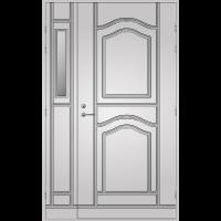 Pihla Ulko-ovi UO 141 lasilevikkeellä Valkoinen NCS S 0502-Y