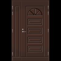 Pihla Ulko-ovi UO151 umpilevikkeellä Tummanruskea RR32