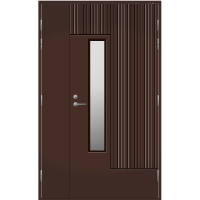 Pihla Ulko-ovi UO 163 Umpilevikkeellä Tummanruskea RR32