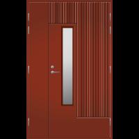 Pihla Ulko-ovi UO 163 Umpilevikkeellä Tuvanpunainen NCS S 4050-Y90R