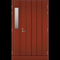 Pihla Ulko-ovi UO 164 lasilevikkeellä Tuvanpunainen NCS S 4050-Y90R