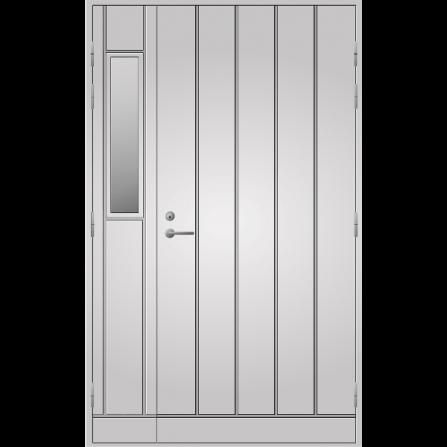 Pihla Ulko-ovi UO 164 lasilevikkeellä Valkoinen NCS S 0502-Y