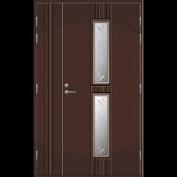 Pihla Ulko-ovi UO 165 Umpilevikkeellä Tummanruskea RR32