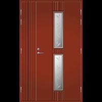 Pihla Ulko-ovi UO 165 Umpilevikkeellä Tuvanpunainen NCS S 4050-Y90R