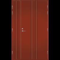 Pihla Ulko-ovi UO 167 Umpilevikkeellä Tuvanpunainen NCS S 4050-Y90R