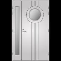 Pihla Ulko-ovi UO 180 Lasilevikkeellä Valkoinen NCS S 0502-Y