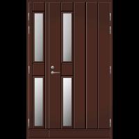 Pihla Ulko-ovi UO 192 Lasilevikkeellä Tummanruskea RR32