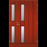 Pihla Ulko-ovi UO 192 Lasilevikkeellä Tuvanpunainen NCS S 4050-Y90R