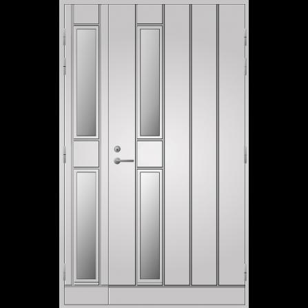 Pihla Ulko-ovi UO 192 Lasilevikkeellä Valkoinen NCS S 0502-Y
