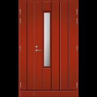 Pihla Ulko-ovi UO 192X Umpilevikkeellä Tuvanpunainen NCS S 4050-Y90R