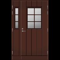Pihla Ulko-ovi UO 198 Lasilevikkeellä Tummanruskea RR32