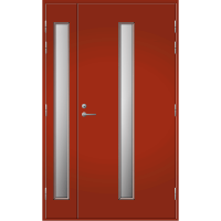 Pihla Ulko-ovi UO 202 Lasilevikkeellä Tuvanpunainen NCS S 4050-Y90R