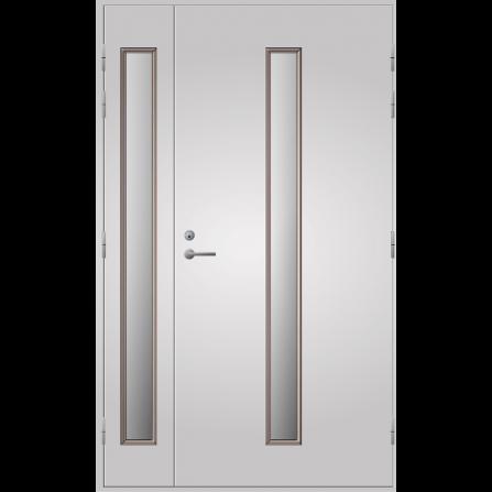 Pihla Ulko-ovi UO 202 Lasilevikkeellä Valkoinen NCS S 0502-Y