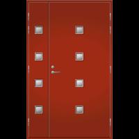 Pihla Ulko-ovi UO 205 Lasilevikkeellä Tuvanpunainen NCS S 4050-Y90R